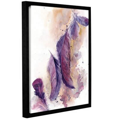 'Purple Feathers VI' Framed Print on Canvas Size: 10