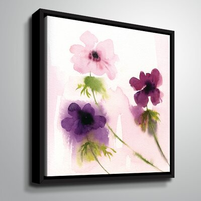 'Purple Trio' Painting Print on Wrapped Canvas Size: 10