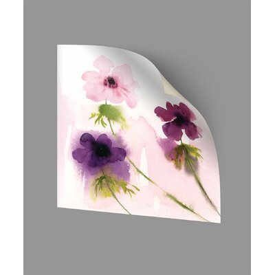 Cronin Purple Trio Wall Decal Size: 14
