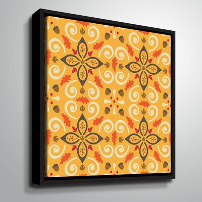 'Bold Harvest VI' Graphic Art Print on Wrapped Canvas Format: Black Framed, Size: 10