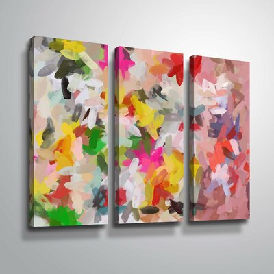 'Colorful Pallet IV' Rectangle Print Multi-Piece Image on Wrapped Canvas Format: Wrapped Canvas, Size: 24