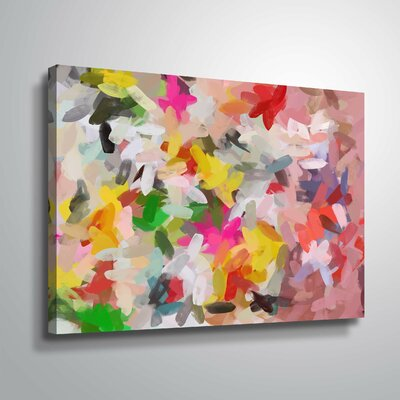 'Colorful Pallet IV' Print Format: Wrapped Canvas, Size: 14