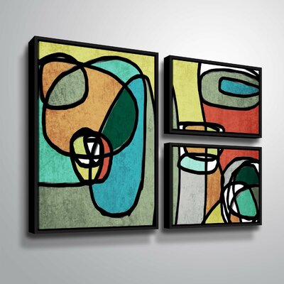 'Vibrant Colorful Abstract IX' Graphic Art Print Multi-Piece Image Format: Black Framed, Size: 24
