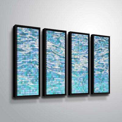 'Water Surface 23' Rectangle Graphic Art Print Multi-Piece Image on Canvas Format: Black Framed, Size: 24