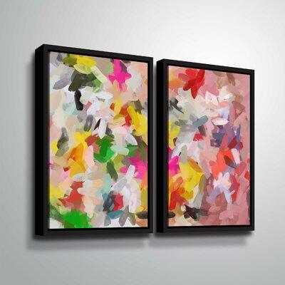 'Colorful Pallet IV' Print Multi-Piece Image Format: Black Framed, Size: 24