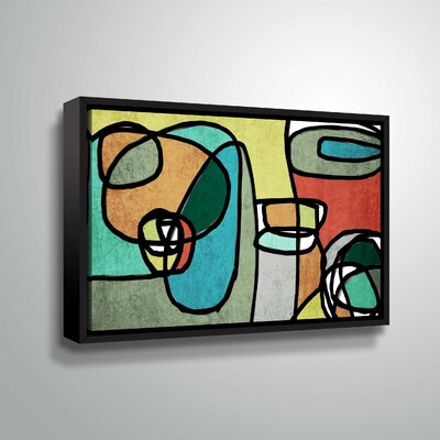 'Vibrant Colorful Abstract IX' Graphic Art Print Format: Black Framed, Size: 12
