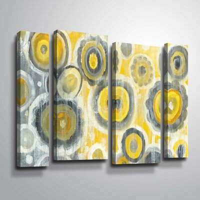 'Abstract Circles' Watercolor Painting Print Multi-Piece Image Format: Wrapped Canvas, Size: 24