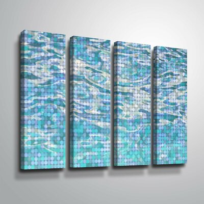 'Water Surface 23' Rectangle Graphic Art Print Multi-Piece Image on Canvas Format: Wrapped Canvas, Size: 24