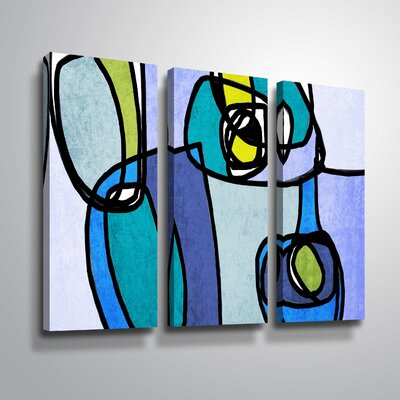 'Vibrant Colorful Abstract' Graphic Art Print Multi-Piece Image on Canvas Format: Wrapped Canvas, Size: 24