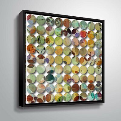 'Industrial Mixed Media Circles 808-12' Graphic Art Print Format: Black Framed, Size: 10