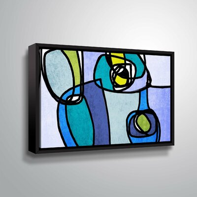 'Vibrant Colorful Abstract' Graphic Art Print Format: Black Framed, Size: 12