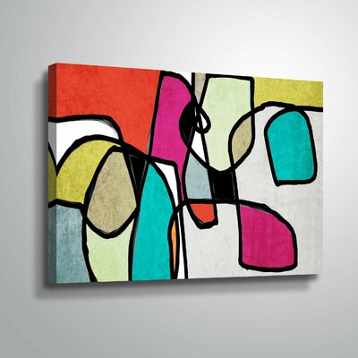'Vibrant Colorful Abstract IV' Graphic Art Print Format: Wrapped Canvas, Size: 12