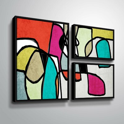'Vibrant Colorful Abstract IV' Graphic Art Print Multi-Piece Image Format: Black Framed, Size: 24