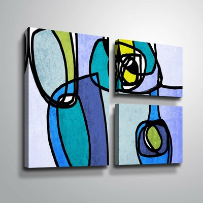 'Vibrant Colorful Abstract' Graphic Art Print Multi-Piece Image Format: Wrapped Canvas, Size: 24