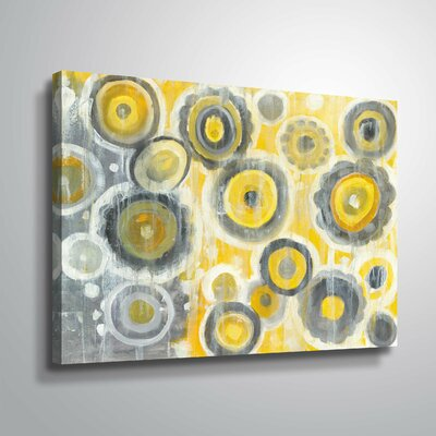 'Abstract Circles' Watercolor Painting Print Format: Wrapped Canvas, Size: 08