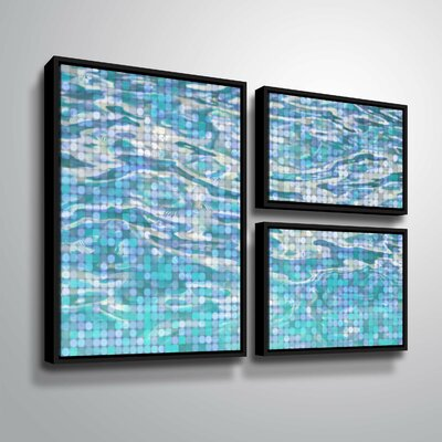 'Water Surface 23' Graphic Art Print Multi-Piece Image Format: Black Framed, Size: 24