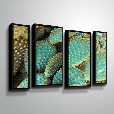 'Sunny Cactus 2' Photographic Print Multi-Piece Image on Wrapped Canvas Format: Black Framed, Size: 24