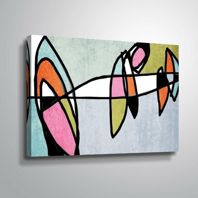 'Vibrant Colorful Abstract VI' Graphic Art Print Format: Wrapped Canvas, Size: 12