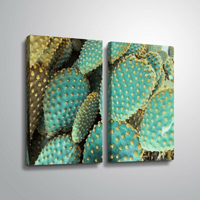 'Sunny Cactus 2' Rectangle Photographic Print Multi-Piece Image Format: Wrapped Canvas, Size: 24