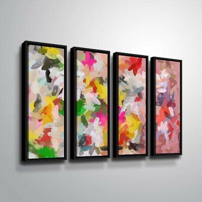'Colorful Pallet IV' Rectangle Print Multi-Piece Image Format: Black Framed, Size: 24
