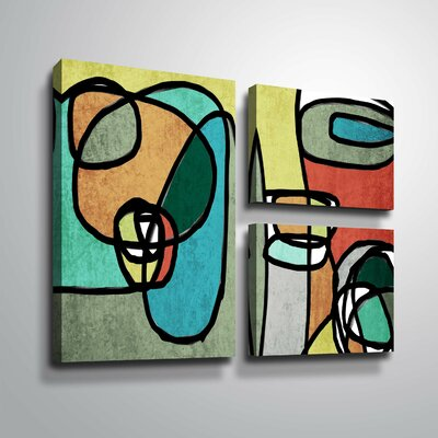 'Vibrant Colorful Abstract IX' Graphic Art Print Multi-Piece Image Format: Wrapped Canvas, Size: 24