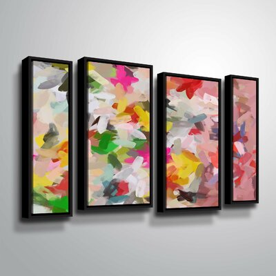 'Colorful Pallet IV' Print Multi-Piece Image on Wrapped Canvas Format: Black Framed, Size: 24