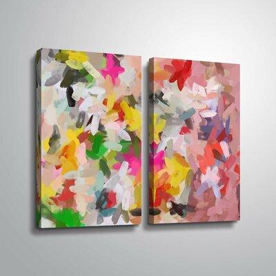 'Colorful Pallet IV' Print Multi-Piece Image Format: Wrapped Canvas, Size: 24