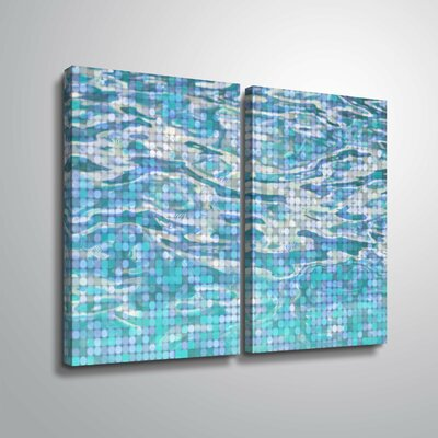 'Water Surface 23' Rectangle Graphic Art Print Multi-Piece Image Format: Wrapped Canvas, Size: 18