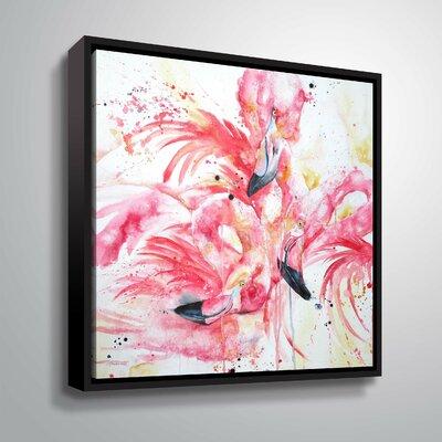 'Flamingos 3 A' Print Format: Black Framed, Size: 10