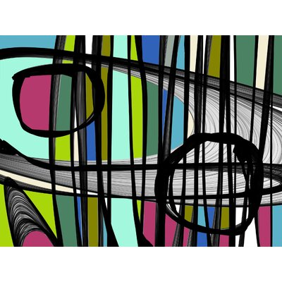 'Vibrant Colorful Abstract II' Graphic Art Print Multi-Piece Image on Canvas Format: Wrapped Canvas, Size: 24
