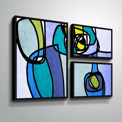 'Vibrant Colorful Abstract' Graphic Art Print Multi-Piece Image Format: Black Framed, Size: 24