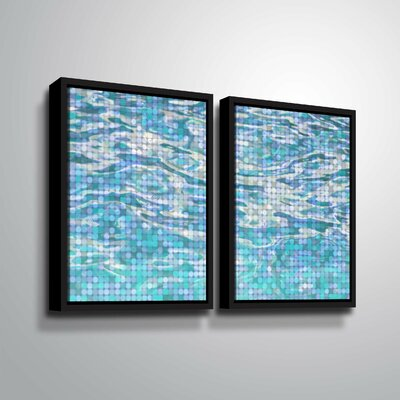 'Water Surface 23' Rectangle Graphic Art Print Multi-Piece Image Format: Black Framed, Size: 24
