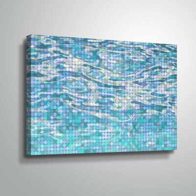 'Water Surface 23' Graphic Art Print Format: Wrapped Canvas, Size: 12