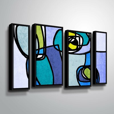 'Vibrant Colorful Abstract' Graphic Art Print Multi-Piece Image with Floater Frame Size: 24