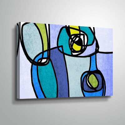 'Vibrant Colorful Abstract' Graphic Art Print Format: Wrapped Canvas, Size: 12