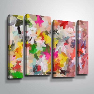 'Colorful Pallet IV' Print Multi-Piece Image on Wrapped Canvas Format: Wrapped Canvas, Size: 24