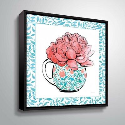 'Floral Teacup I' Print Format: Black Framed, Size: 10