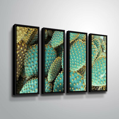 'Sunny Cactus 2' Rectangle Photographic Print Multi-Piece Image on Canvas Format: Black Framed, Size: 24