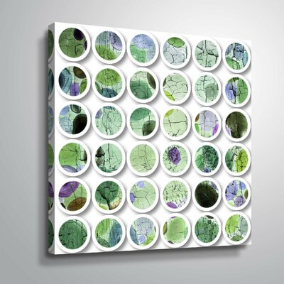 'Industrial Mixed Media Circles 808-86' Graphic Art Print Format: Wrapped Canvas, Size: 10