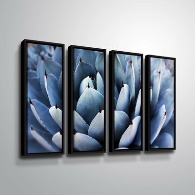 'Summer Succulent Symphony 13' Rectangle Photographic Print Multi-Piece Image on Canvas Format: Black Framed, Size: 24
