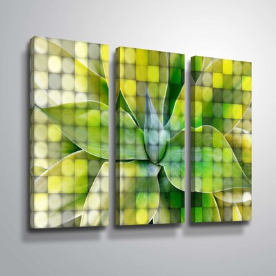 'Spring Succulent Symphony 7' Graphic Art Print Multi-Piece Image Format: Wrapped Canvas, Size: 24