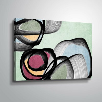 'Vibrant Colorful Abstract VIII' Graphic Art Print Format: Wrapped Canvas, Size: 12