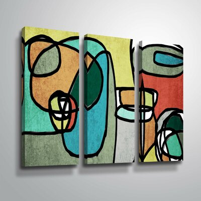 'Vibrant Colorful Abstract IX' Graphic Art Print Multi-Piece Image on Canvas Format: Wrapped Canvas, Size: 24