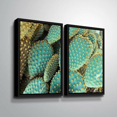 'Sunny Cactus 2' Rectangle Photographic Print Multi-Piece Image Format: Black Framed, Size: 24