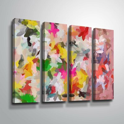 'Colorful Pallet IV' Rectangle Print Multi-Piece Image Format: Wrapped Canvas, Size: 24