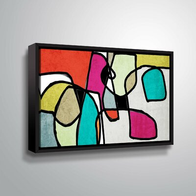 'Vibrant Colorful Abstract IV' Graphic Art Print Format: Black Framed, Size: 12