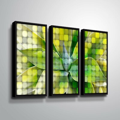 'Spring Succulent Symphony 7' Graphic Art Print Multi-Piece Image Format: Black Framed, Size: 24