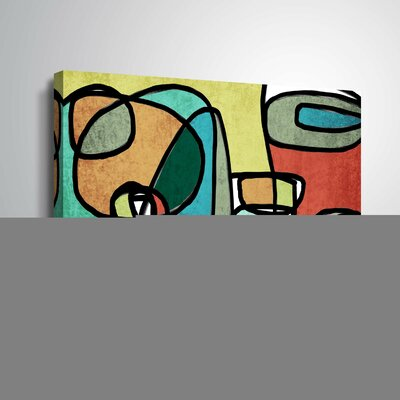 'Vibrant Colorful Abstract IX' Graphic Art Print Format: Wrapped Canvas, Size: 12