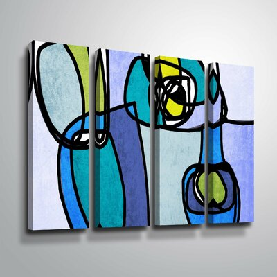 'Vibrant Colorful Abstract' Rectangle Graphic Art Print Multi-Piece Image on Canvas Format: Wrapped Canvas, Size: 24