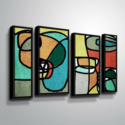 'Vibrant Colorful Abstract IX' Framed Graphic Art Print Multi-Piece Image Size: 24